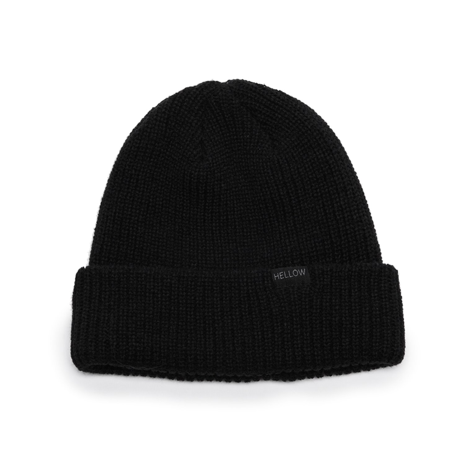 1819-SOLID BEANIE- BLACK